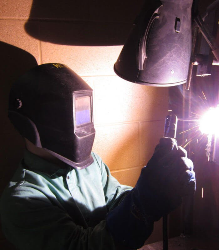 Career Academy South Bend Welding Student